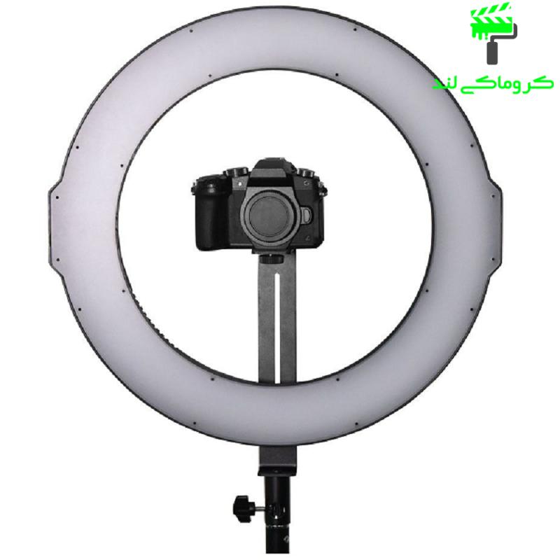 دوربین عکاسی نصب شده بر رینگ لایت مدل MAXLIGHT LED RL-320A