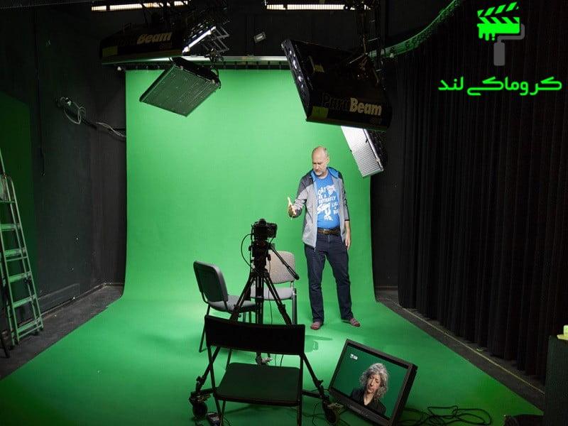فیلم برداری در استودیوی کروماکی