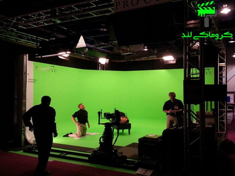 برداشت فیلم در استودیوی کروماکی