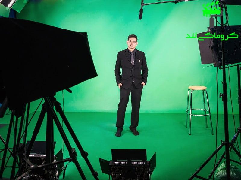 برداشت عکس در استودیوی کروماکی